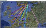 Propagation20JAN11_40m_WSPRnet